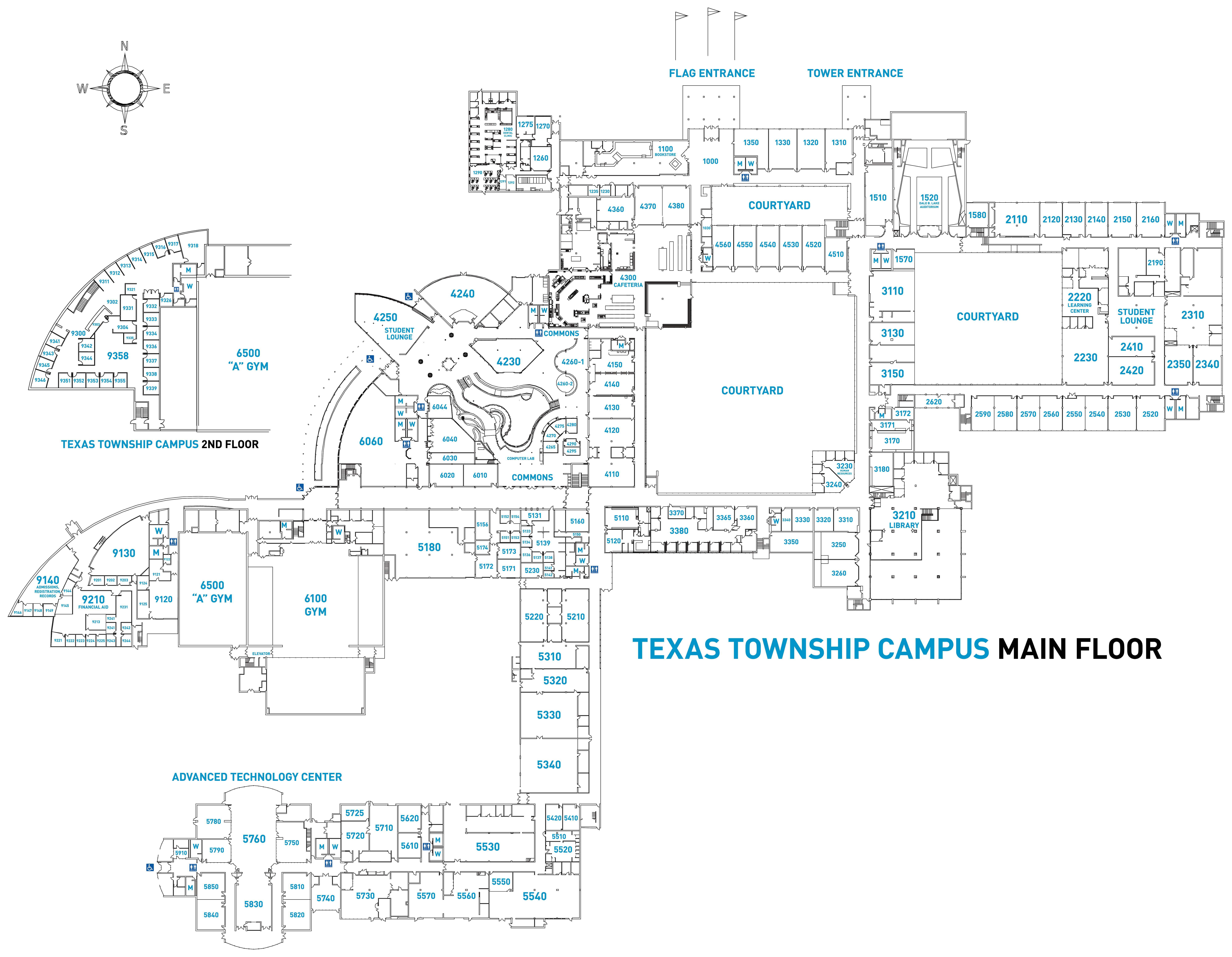 Cpcc Main Campus Map.Texas Township Campus Map Kalamazoo Valley Community College
